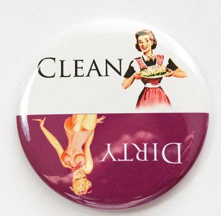 Pinup Girls Dishwasher Magnet Purple & White - Kelly's Handmade