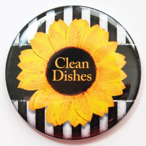 Sunflower Clean Dishes Dishwasher Magnet - Kelly's Handmade