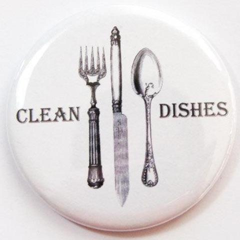 Cutlery Clean Dishes Dishwasher Magnet - Kelly's Handmade