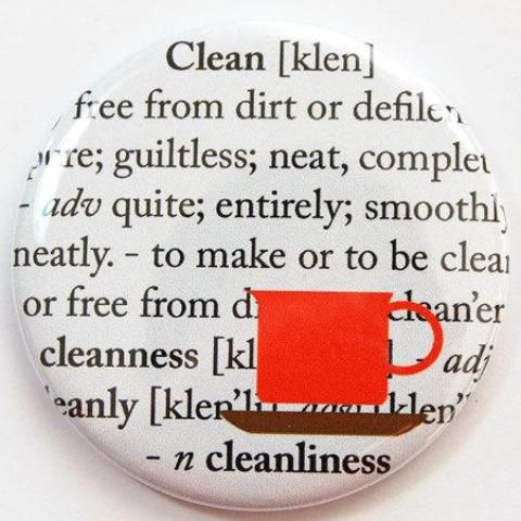 Clean Dictionary Dishwasher Magnet - Kelly's Handmade