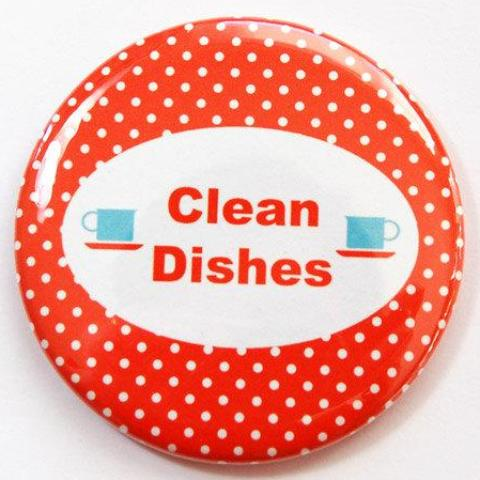 Polka Dot Dishwasher Magnet in Red - Kelly's Handmade