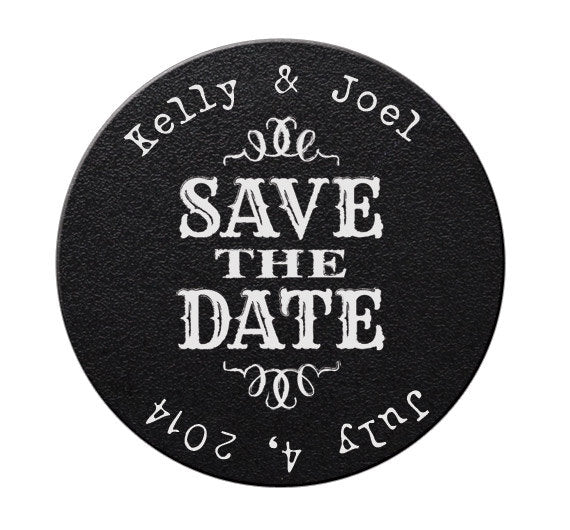 Faux Chalkboard Save the Date Magnets #1 - Kelly's Handmade