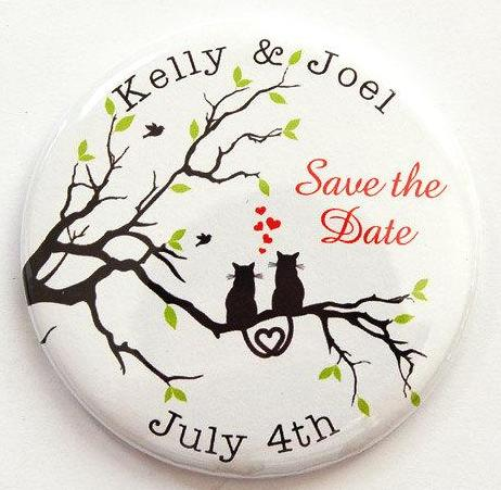 Cats In Love Save the Date Magnets - Kelly's Handmade
