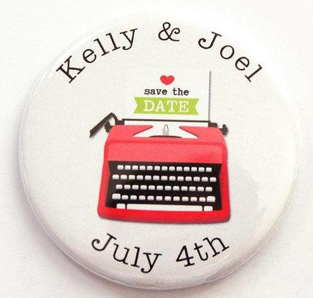 Typewriter Save The Date Magnets - Kelly's Handmade