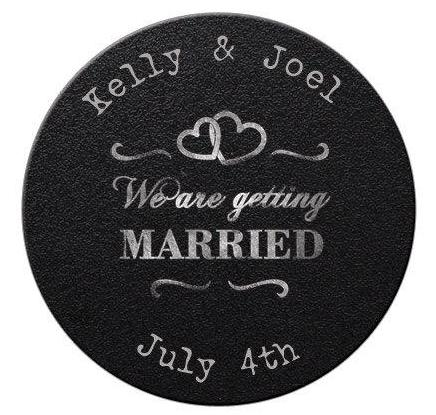 Faux Chalkboard Save the Date Magnets #4 - Kelly's Handmade