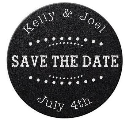 Faux Chalkboard Save the Date Magnets #3 - Kelly's Handmade
