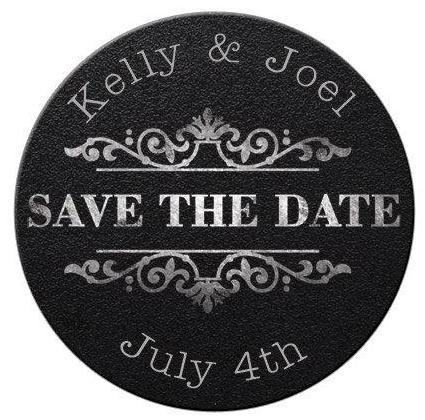 Faux Chalkboard Save the Date Magnets #2 - Kelly's Handmade