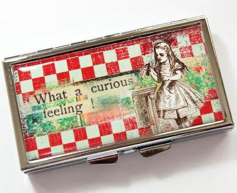 What A Curious Feeling 7 Day Pill Case - Kelly's Handmade