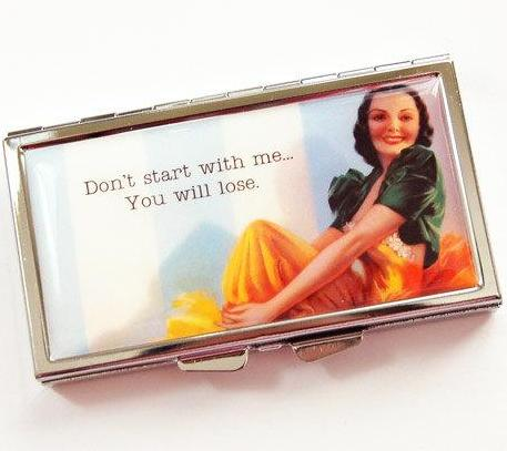 Don't Star With Me 7 Day Pill Case - Kelly's Handmade