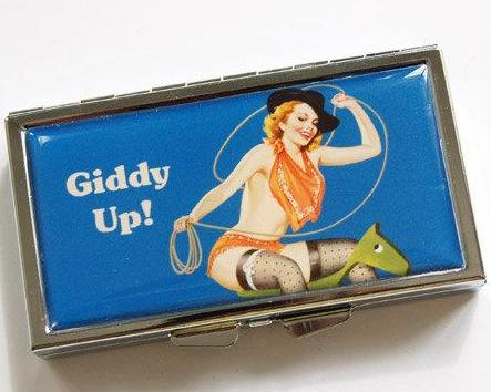 Giddy Up Cowgirl 7 Day Pill Case - Kelly's Handmade