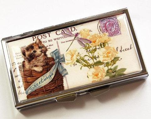 Kitten In Basket 7 Day Pill Case - Kelly's Handmade