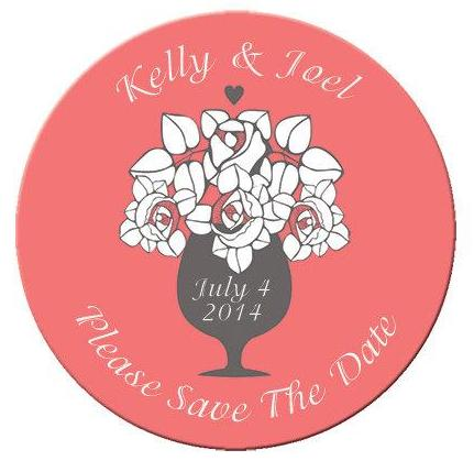 Floral Save The Date Magnets - Kelly's Handmade