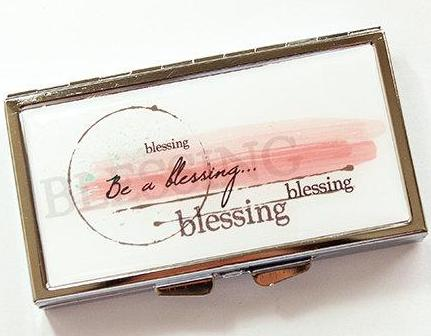 Be A Blessing 7 Day Pill Case - Kelly's Handmade