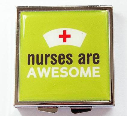 Nurses Are Awesome Square Pill Case - Kelly's Handmade