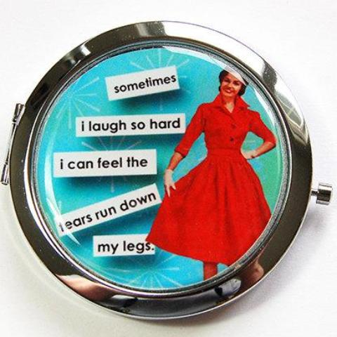 Pees When Laughing Funny Compact Mirror - Kelly's Handmade