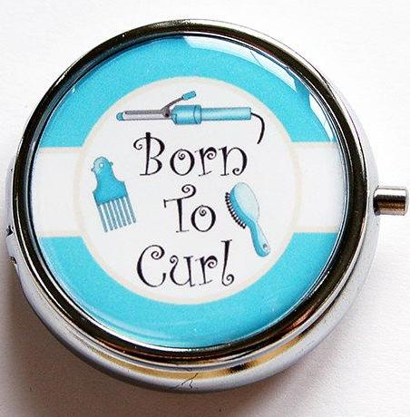 Born To Curl Pill Case - Kelly's Handmade