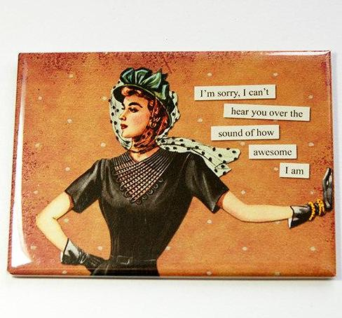 How Awesome I Am Funny Rectangle Magnet - Kelly's Handmade