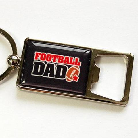 Football Dad Keychain Bottle Opener - Kelly's Handmade