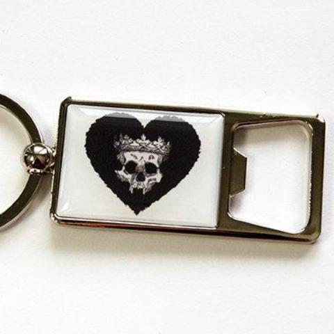 Skull Heart Keychain Bottle Opener - Kelly's Handmade