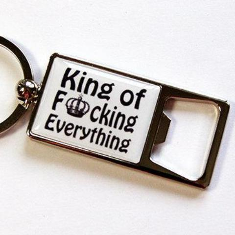 King Of Everything Bottle Opener Keychain - Kelly's Handmade