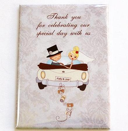 Wedding Favor Custom Magnet - Kelly's Handmade