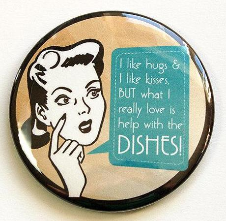 Help With The Dishes Magnet - Kelly's Handmade