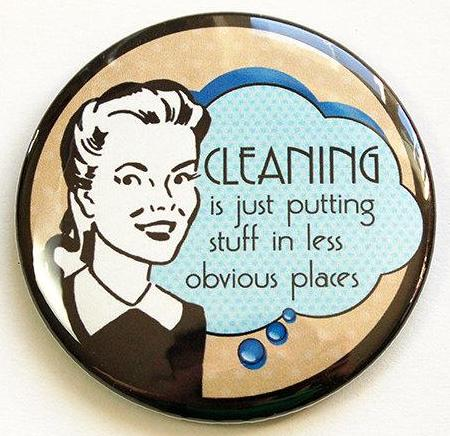 Retro Housewife Funny Cleaning Magnet - Kelly's Handmade