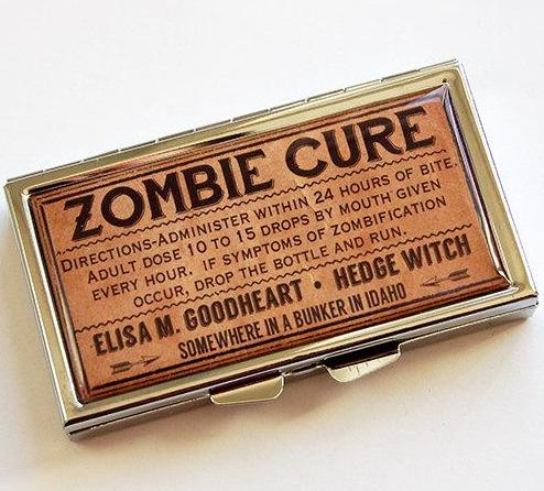 Zombie Cure 7 Day Pill Case - Kelly's Handmade