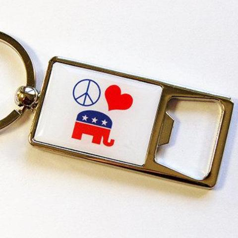 Republican Keychain Bottle Opener - Kelly's Handmade