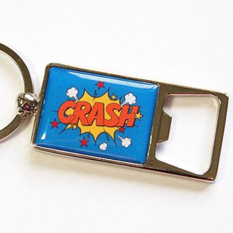 Crash! Keychain Bottle Opener - Kelly's Handmade