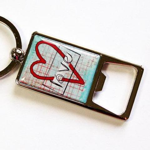 Heart Love Keychain Bottle Opener - Kelly's Handmade