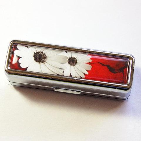 Daisy Lipstick Case in Red & White - Kelly's Handmade