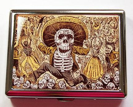 Day of the Dead Compact Cigarette Case - Kelly's Handmade