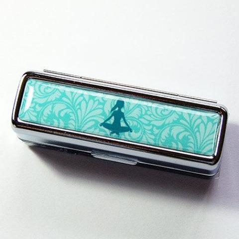 Yoga Lipstick Case in Turquoise - Kelly's Handmade