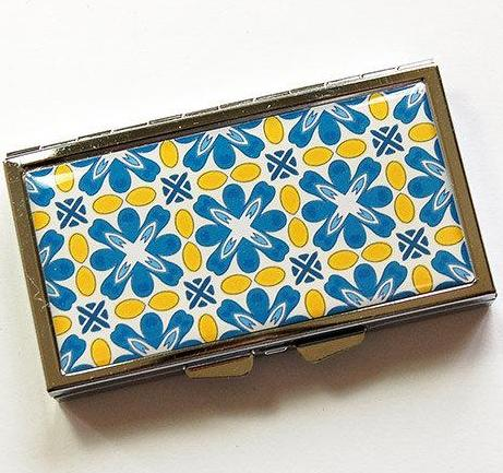Tile Mosaic Design 7 Day Pill Case - Kelly's Handmade