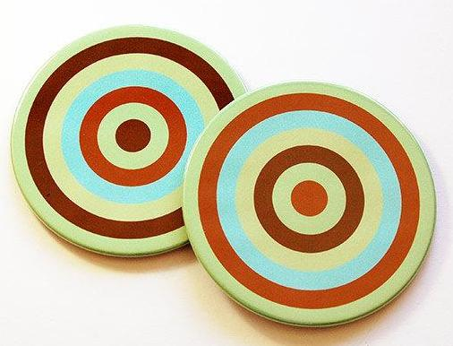 Rings of Color Coasters Set 5 - Kelly's Handmade