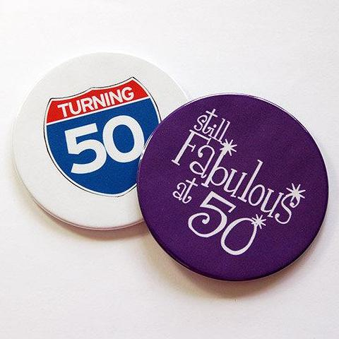 50th Birthday Coasters Set 1 - Kelly's Handmade