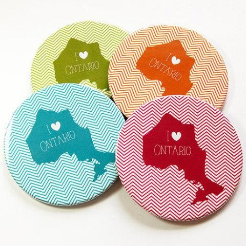 I Love Ontario Coasters - Kelly's Handmade
