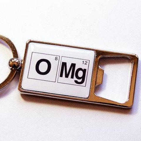 OMG Periodic Table Keychain Bottle Opener - Kelly's Handmade