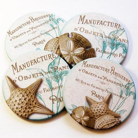 Beach Shell Coasters - Kelly's Handmade