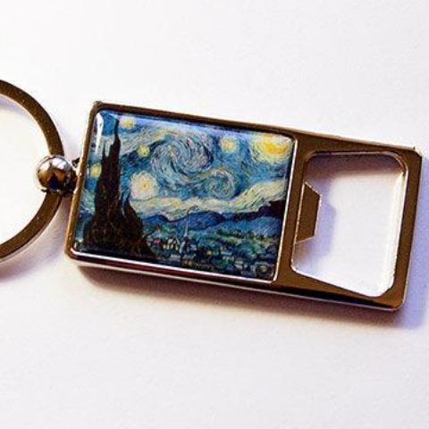 Starry Night Keychain Bottle Opener - Kelly's Handmade