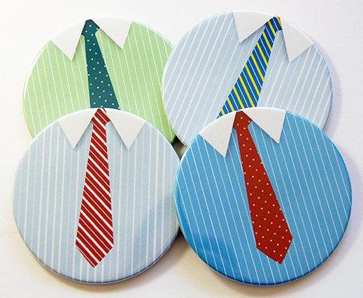 Shirt & Tie Coasters - Kelly's Handmade