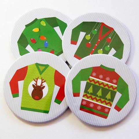 Christmas Ugly Sweater Coasters - Kelly's Handmade