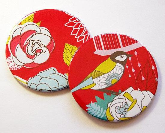 Flowers & Birds Coasters Set 1 - Kelly's Handmade