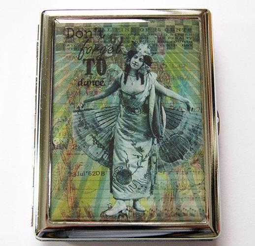Don't Forget To Dance Compact Cigarette Case - Kelly's Handmade