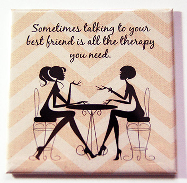 Talking to Your Best Friend Magnet - Kelly's Handmade