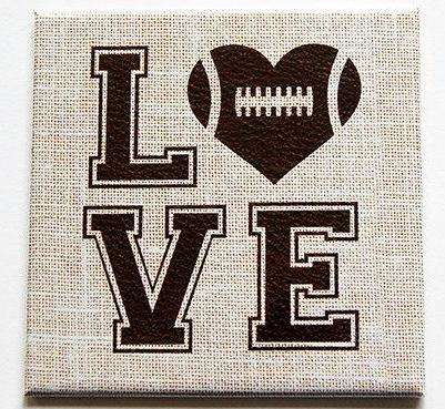 Love Football Magnet - Kelly's Handmade