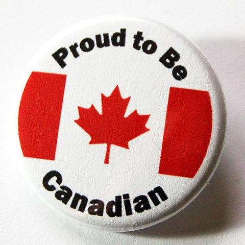 Proud to be Canadian Pin - Kelly's Handmade