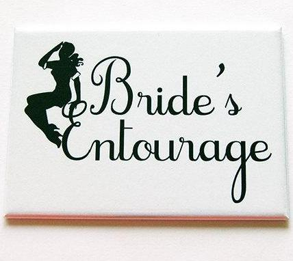 Bride's Entourage Large Pocket Mirror - Kelly's Handmade