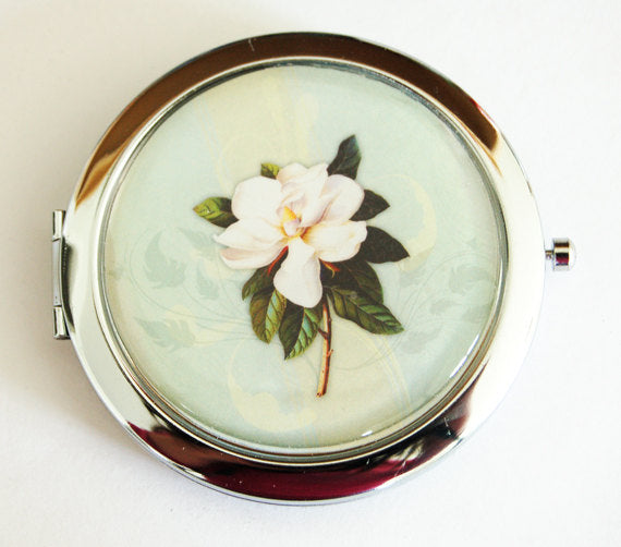 Magnolia Pill Case With Mirror - Kelly's Handmade
